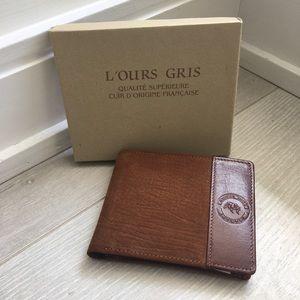 BOGO - L'Ours Gris Men's Luxury designer wallet -…